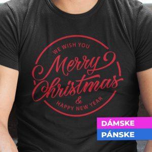 Tričko s potlačou MERRY CHRISTMAS